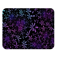 Retro Flower Pattern Design Batik Double Sided Flano Blanket (large)