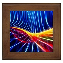 Color Colorful Wave Abstract Framed Tiles