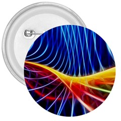 Color Colorful Wave Abstract 3  Buttons