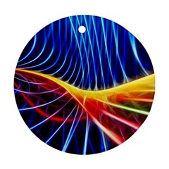 Color Colorful Wave Abstract Ornament (Round)