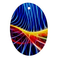 Color Colorful Wave Abstract Ornament (Oval)