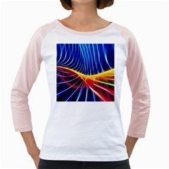 Color Colorful Wave Abstract Girly Raglans