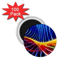 Color Colorful Wave Abstract 1 75  Magnets (100 Pack)