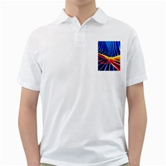 Color Colorful Wave Abstract Golf Shirts