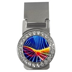Color Colorful Wave Abstract Money Clips (cz)