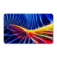 Color Colorful Wave Abstract Magnet (rectangular)