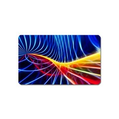 Color Colorful Wave Abstract Magnet (name Card)