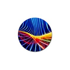 Color Colorful Wave Abstract Golf Ball Marker