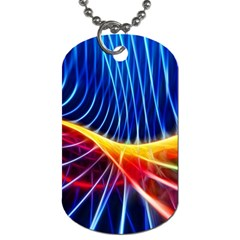 Color Colorful Wave Abstract Dog Tag (two Sides)