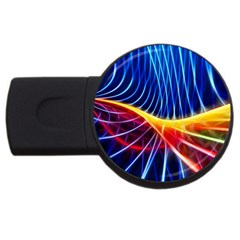Color Colorful Wave Abstract Usb Flash Drive Round (2 Gb)