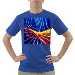 Color Colorful Wave Abstract Dark T Shirt