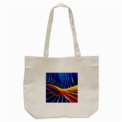 Color Colorful Wave Abstract Tote Bag (cream)
