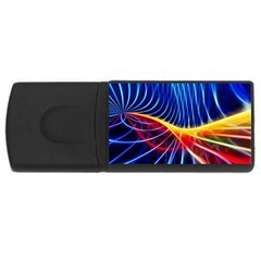 Color Colorful Wave Abstract Usb Flash Drive Rectangular (4 Gb)