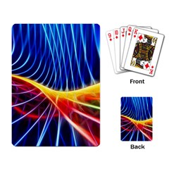 Color Colorful Wave Abstract Playing Card