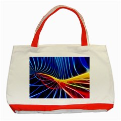 Color Colorful Wave Abstract Classic Tote Bag (Red)