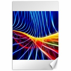 Color Colorful Wave Abstract Canvas 24  X 36