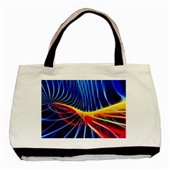 Color Colorful Wave Abstract Basic Tote Bag (two Sides)