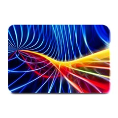 Color Colorful Wave Abstract Plate Mats