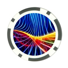 Color Colorful Wave Abstract Poker Chip Card Guard