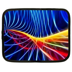 Color Colorful Wave Abstract Netbook Case (large)