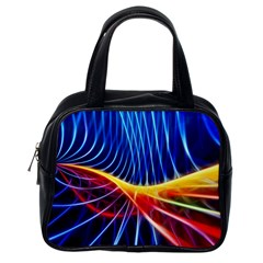 Color Colorful Wave Abstract Classic Handbags (one Side)