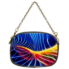 Color Colorful Wave Abstract Chain Purses (two Sides)