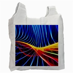 Color Colorful Wave Abstract Recycle Bag (two Side)