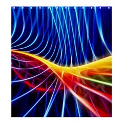 Color Colorful Wave Abstract Shower Curtain 66  X 72  (large)