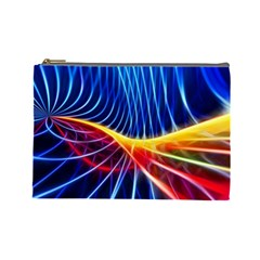 Color Colorful Wave Abstract Cosmetic Bag (large)
