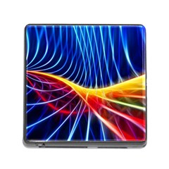 Color Colorful Wave Abstract Memory Card Reader (square)