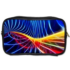 Color Colorful Wave Abstract Toiletries Bags 2 Side