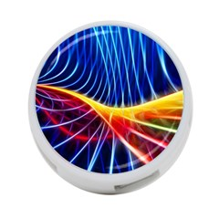 Color Colorful Wave Abstract 4 Port Usb Hub (two Sides)