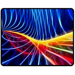 Color Colorful Wave Abstract Fleece Blanket (medium)