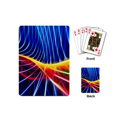 Color Colorful Wave Abstract Playing Cards (mini)