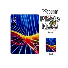Color Colorful Wave Abstract Playing Cards 54 (mini)