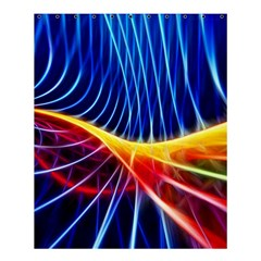 Color Colorful Wave Abstract Shower Curtain 60  X 72  (medium)