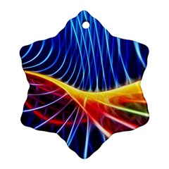 Color Colorful Wave Abstract Snowflake Ornament (two Sides)
