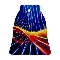 Color Colorful Wave Abstract Bell Ornament (Two Sides)