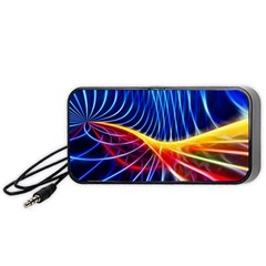 Color Colorful Wave Abstract Portable Speaker (black)