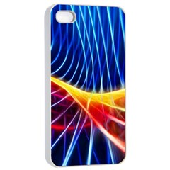 Color Colorful Wave Abstract Apple Iphone 4/4s Seamless Case (white)