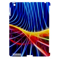 Color Colorful Wave Abstract Apple iPad 3/4 Hardshell Case (Compatible with Smart Cover)
