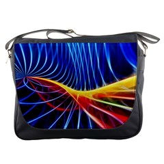 Color Colorful Wave Abstract Messenger Bags