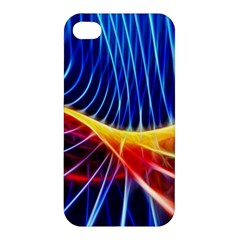 Color Colorful Wave Abstract Apple Iphone 4/4s Premium Hardshell Case
