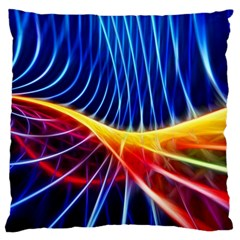 Color Colorful Wave Abstract Large Cushion Case (two Sides)
