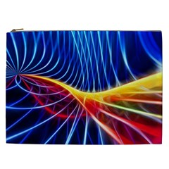 Color Colorful Wave Abstract Cosmetic Bag (xxl)