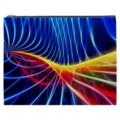 Color Colorful Wave Abstract Cosmetic Bag (xxxl)