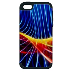 Color Colorful Wave Abstract Apple Iphone 5 Hardshell Case (pc+silicone)