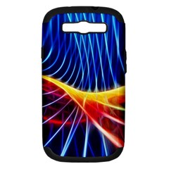 Color Colorful Wave Abstract Samsung Galaxy S Iii Hardshell Case (pc+silicone)