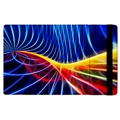 Color Colorful Wave Abstract Apple Ipad 2 Flip Case