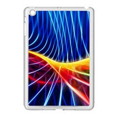 Color Colorful Wave Abstract Apple Ipad Mini Case (white)